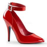 Rouge Verni 13 cm SEDUCE-431 Escarpins Chaussures Femme