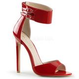 Rouge Verni 13 cm SEXY-19 Sandales de Soirée a Talon