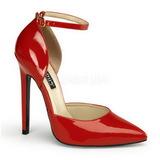 Rouge Verni 13 cm SEXY-21 Escarpins Chaussures Femme