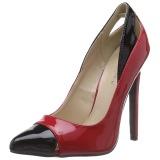 Rouge Verni 13 cm SEXY-22 Chaussures Escarpins Classiques