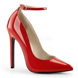 Rouge Verni 13 cm SEXY-23 Chaussures Escarpins Classiques