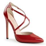 Rouge Verni 13 cm SEXY-26 Chaussures Escarpins Classiques