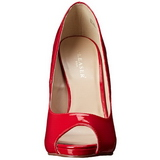 Rouge Verni 13 cm SEXY-42 Chaussures Escarpins Classiques