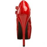 Rouge Verni 14,5 cm Burlesque TEEZE-05 Chaussures pour femmes a talon