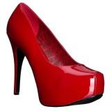 Rouge Verni 14,5 cm Burlesque TEEZE-06W pieds larges escarpins pour homme