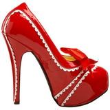 Rouge Verni 14,5 cm Burlesque TEEZE-14 Chaussures pour femmes a talon
