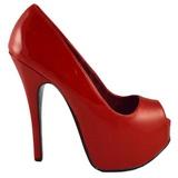 Rouge Verni 14,5 cm Burlesque TEEZE-22 Escarpins Talon Aiguille Femmes