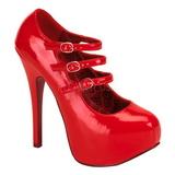 Rouge Verni 14,5 cm TEEZE-05 Chaussures pour femmes a talon