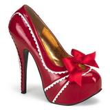 Rouge Verni 14,5 cm TEEZE-14 Chaussures pour femmes a talon