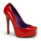 Rouge Verni 14 cm BONDAGE-01 Escarpins Chaussures Femme