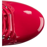 Rouge Verni 15,5 cm DELIGHT-1020 Plateforme Bottines