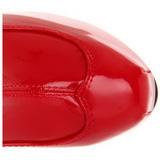 Rouge Verni 15 cm Burlesque TEEZE-3000 Cuissardes Bottes Plateforme