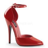 Rouge Verni 15 cm DOMINA-402 Escarpins Chaussures Femme