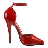 Rouge Verni 15 cm DOMINA-402 Escarpins Talons Hauts Hommes