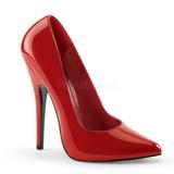 Rouge Verni 15 cm DOMINA-420 Chaussures Stilettos Escarpins Femmes