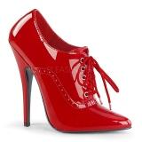 Rouge Verni 15 cm DOMINA-460 Escarpins Chaussures Femme