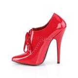 Rouge Verni 15 cm DOMINA-460 escarpins à talons hauts