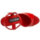 Rouge Verni 15 cm FUNTASMA JULIET-209 Talons Hauts Plateforme
