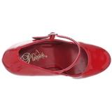 Rouge Verni 15 cm PLEASER DELIGHT-687 Escarpins Haut Talon