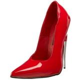 Rouge Verni 15 cm SCREAM-01 Chaussures Stilettos Escarpins Femmes