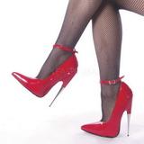 Rouge Verni 15 cm SCREAM-12 Chaussures Stilettos Escarpins Femmes