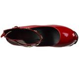 Rouge Verni 16 cm CRAMPS-03 Chaussures Escarpins Gothique