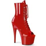 Rouge Verni 18 cm ADORE-1021 bottines plateforme pour femmes