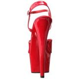 Rouge Verni 18 cm ADORE-709 Talons Hauts Plateforme