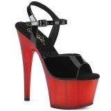 Rouge Verni 18 cm ADORE-709T sandales pleaser plateforme