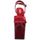 Rouge Verni 20 cm Pleaser FLAMINGO-809 Talons Hauts Plateforme