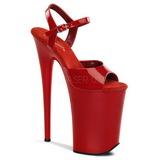Rouge Verni 23 cm INFINITY-909 Talons Hauts Plateforme