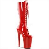 Rouge Verni 23 cm Pleaser INFINITY-2020 Plateforme Bottes Femmes