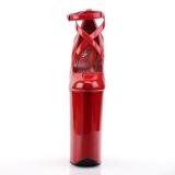 Rouge Verni 25,5 cm BEYOND-087 talons très hauts - escarpins plateforme extrême