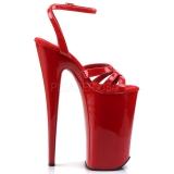 Rouge Verni 25,5 cm Pleaser BEYOND-012 Talons Hauts Plateforme