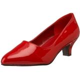 Rouge Verni 5 cm FAB-420W Escarpins Chaussures Femme