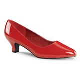 Rouge Verni 5 cm FAB-420W Escarpins Talons Hauts Hommes