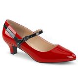 Rouge Verni 5 cm FAB-425 grande taille escarpins femmes