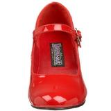 Rouge Verni 5 cm SCHOOLGIRL-50 Chaussures Escarpins Classiques