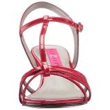Rouge Verni 6 cm KITTEN-06 grande taille sandales femmes