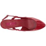 Rouge Verni 7,5 cm DIVINE-418 grande taille escarpins femmes