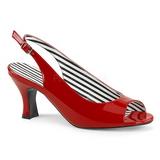 Rouge Verni 7,5 cm JENNA-02 grande taille sandales femmes