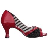 Rouge Verni 7,5 cm JENNA-03 grande taille escarpins femmes