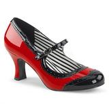 Rouge Verni 7,5 cm JENNA-06 grande taille escarpins femmes