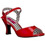 Rouge Verni 7,5 cm JENNA-09 grande taille sandales femmes