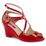 Rouge Verni 7,5 cm KIMBERLY-04 grande taille sandales femmes