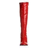 Rouge Verni 8,5 cm Funtasma GOGO-300 Bottes Femmes