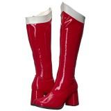 Rouge Verni 8,5 cm Funtasma GOGO-306 Bottes Femmes