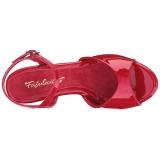 Rouge Verni 8 cm BELLE-309 Sandales Femme a Talon