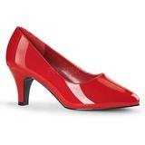 Rouge Verni 8 cm DIVINE-420W Escarpins Chaussures Femme
