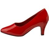 Rouge Verni 8 cm DIVINE-420W Escarpins Talons Hauts Hommes